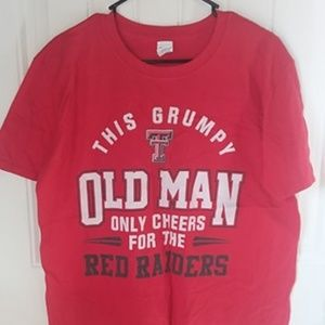 Texas Tech Red Raiders Old Man T-Shirt Mens Size L